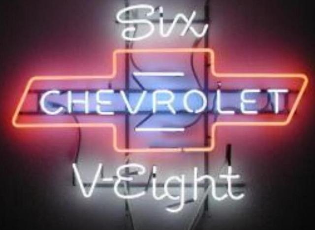 Custom Chevy Chevrolet Auto Glass Neon Light Sign Beer Bar