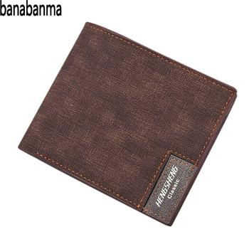 adc3635b3ac6 Banabanma hombres ocio negocios de cuero PU Mini compacto Thin bolso patrón  corto monedero carteras y monederos ZK30
