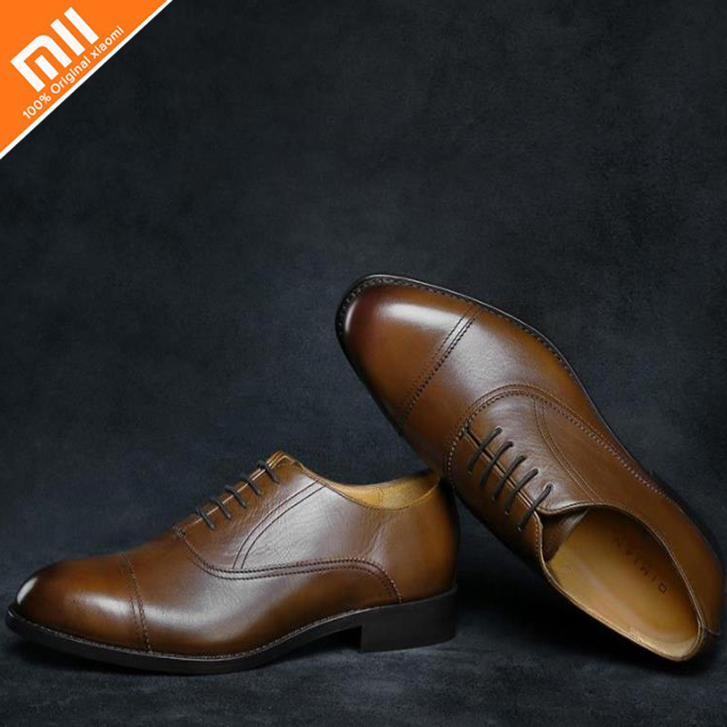 Original xiaomi mijia seven faced vegetable tanned oxford shoes men s business shoes high quality