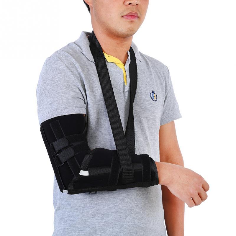 Adjustable Arm Sling Shoulder Immobilizer Forearm Support Wrist Sprain Forearm Fracture Braces Steel Insert Arm Support Strap