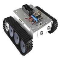 Smartphone Controlled WiFi Rotation RC Robot Tank Car Chassis LED Lights for Science Learning Educational Toys Gift