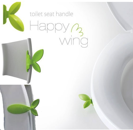 Leaf Toilet Seat Lifters Cover Handle Happy Wing Bath Bathroom Accessory Toilet Lid Ring