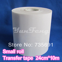 Transfer Film10M Length Lot 24CM Wide Adhesive Iron On Heat Hotfix Paper For HotFix Rhinestones DIY