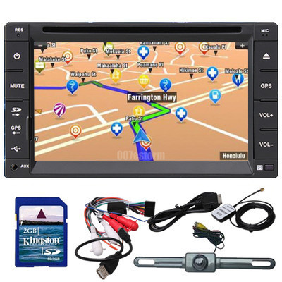 "Free Cam Free MAPS 6.2"" LCD Double 2 Din GPS Navigation Car DVD Player Stereo RDS Radio In Dash head Deck Bluetooth IPOD TV SWC"