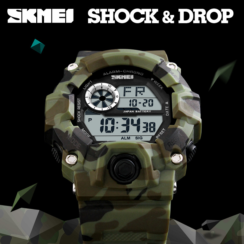 SKMEI Casual Digital Watches Men Sports Electronic Watch Outdoor Luxury Camouflage Military Wristwatches Waterproof Reloj HombreSKMEI Casual Digital Watches Men Sports Electronic Watch Outdoor Luxury Camouflage Military Wristwatches Waterproof Reloj Hombre