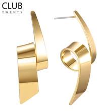 Hot Selling Simple S925 Sterling Geometric Stud Earrings Women 2019 Luxury Brand Trendy Designer Female Earring Fashion Jewelry