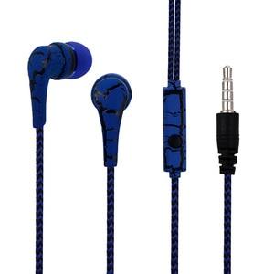 Image 3 - HOMEBARL pleciony ziarna J5 słuchawki douszne uszny drut w ucho słuchawki Stereo dla iphone Samsung Galaxy S6 S5 S4 S7 S8 Mic