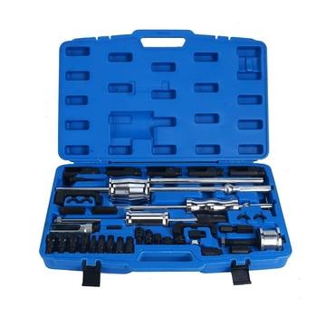 erikc liseron diesel injector remova common rail injectors repair tools assemble disassemble tools for cr injectors Diesel Injector Extractor 40Pc Diesel Injector Extractor  With Common Rail Adaptor Slide Hammer Tool Set
