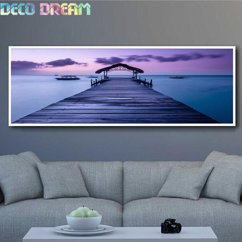 Full Diamond Painting The Terminal In The Night Diy Diamond Embroidery Large Aesthetic Landscape As A