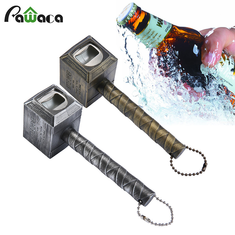Beer Bottle Openers Hammer of Thor Shaped Bottle Opener Wine Corkscrew Beverage Wrench Jar Openers for dinner party Bar tools