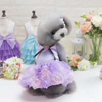 Luxury Dog Wedding Dress Summer Pet Clothes Tutu Dresses Skirt Summer Spring Small Dog Apparel Elegant