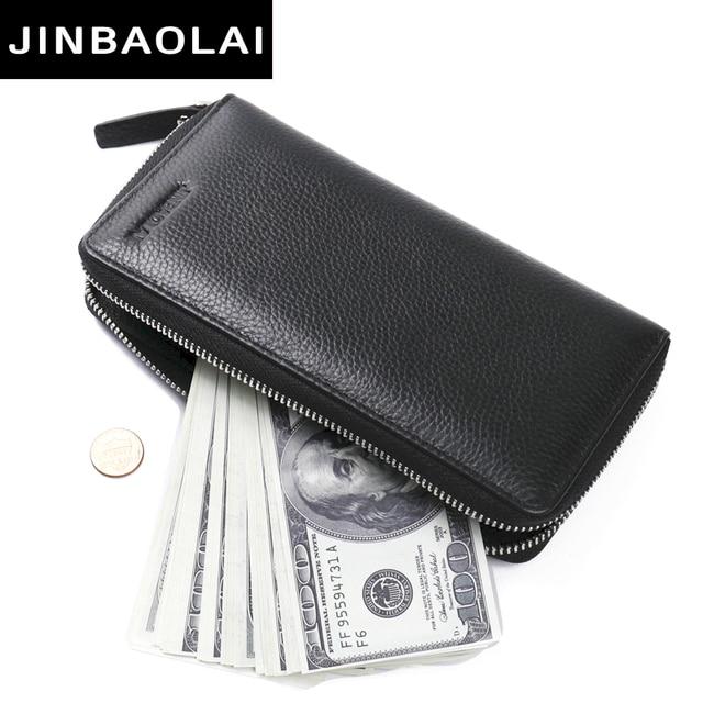 1583a761b Top Quality leather long wallet men pruse male clutch zipper around wallets  men women money bag