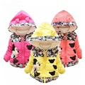 Minnie Jacket for Girls Winter down Coat Warm Children infant Outerwear Long Sleeve Cotton Baby girl Clothes Kids Jackets Hooded