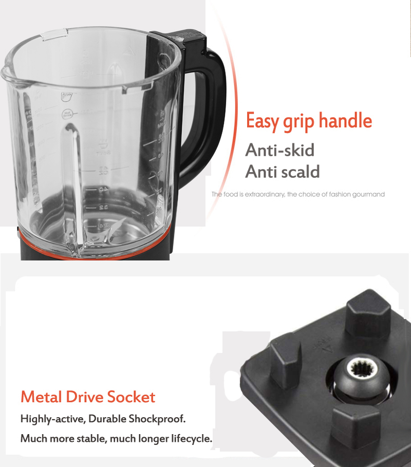 BPA Free 1.75L Glass Jar Blender Mixer Food Processor with Heating Function Soup Maker 8 Pre-programmed Hot and Cold Juicer