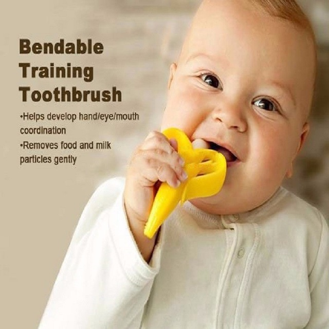 Cheapest High Quality And Environmentally Safe Baby Teether Toys Baby Cute Crib Rattle Bendable Activity Training ToothBrush Toy