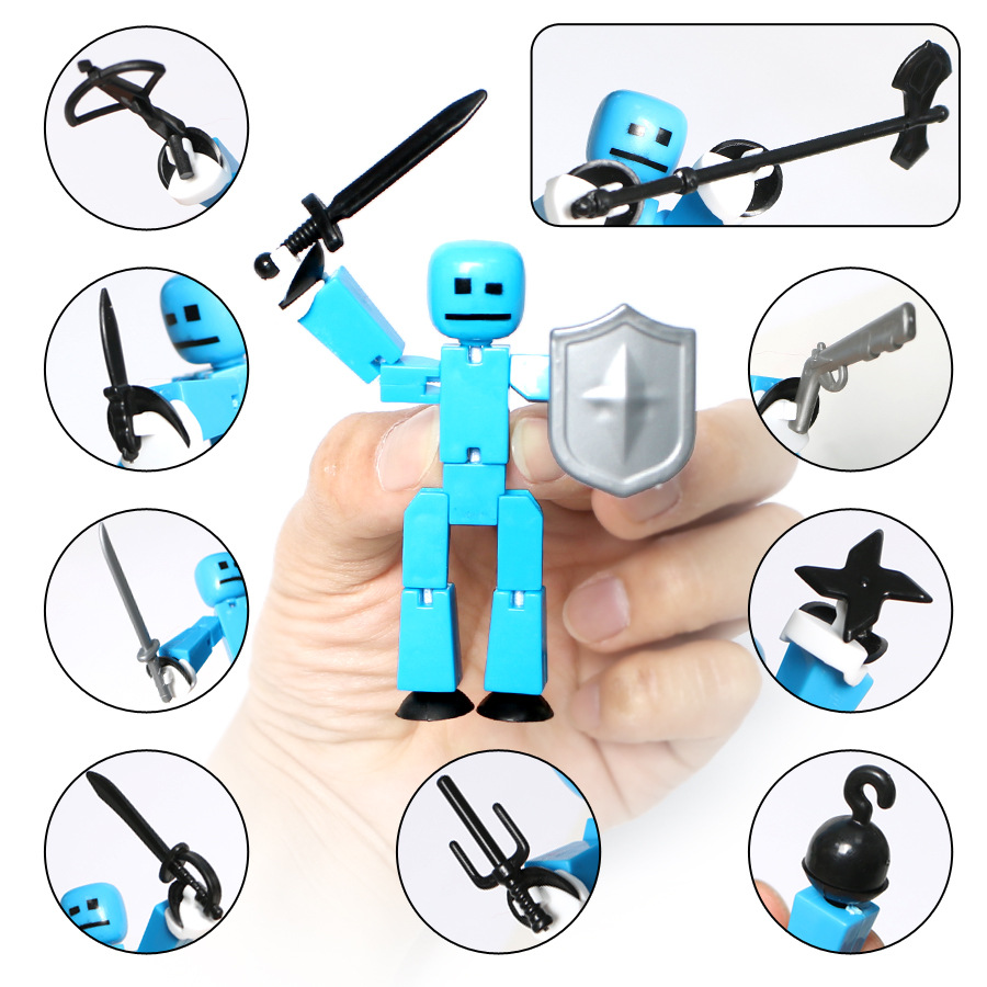 1pcs Stikbot Toy Sucker DIY Sticky Robot Studio Action Figures Toy Game Toys Studio Accessory Toys for Children 48pcs lot action figures toy stikeez sucker kids silicon toys minifigures capsule children gift
