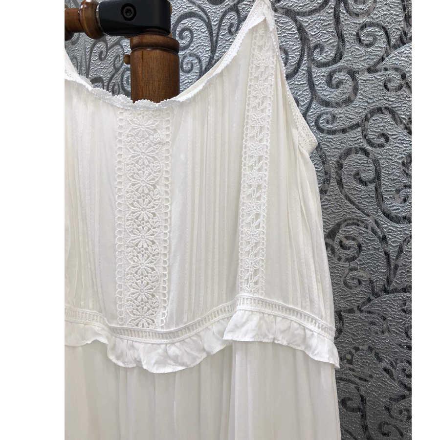 TEELYNN ремень бохо платье 2019 Белый рок кружева миди летние платья сексуальные без рукавов Брендовые женские платья Пляжные цыганские свободные платья