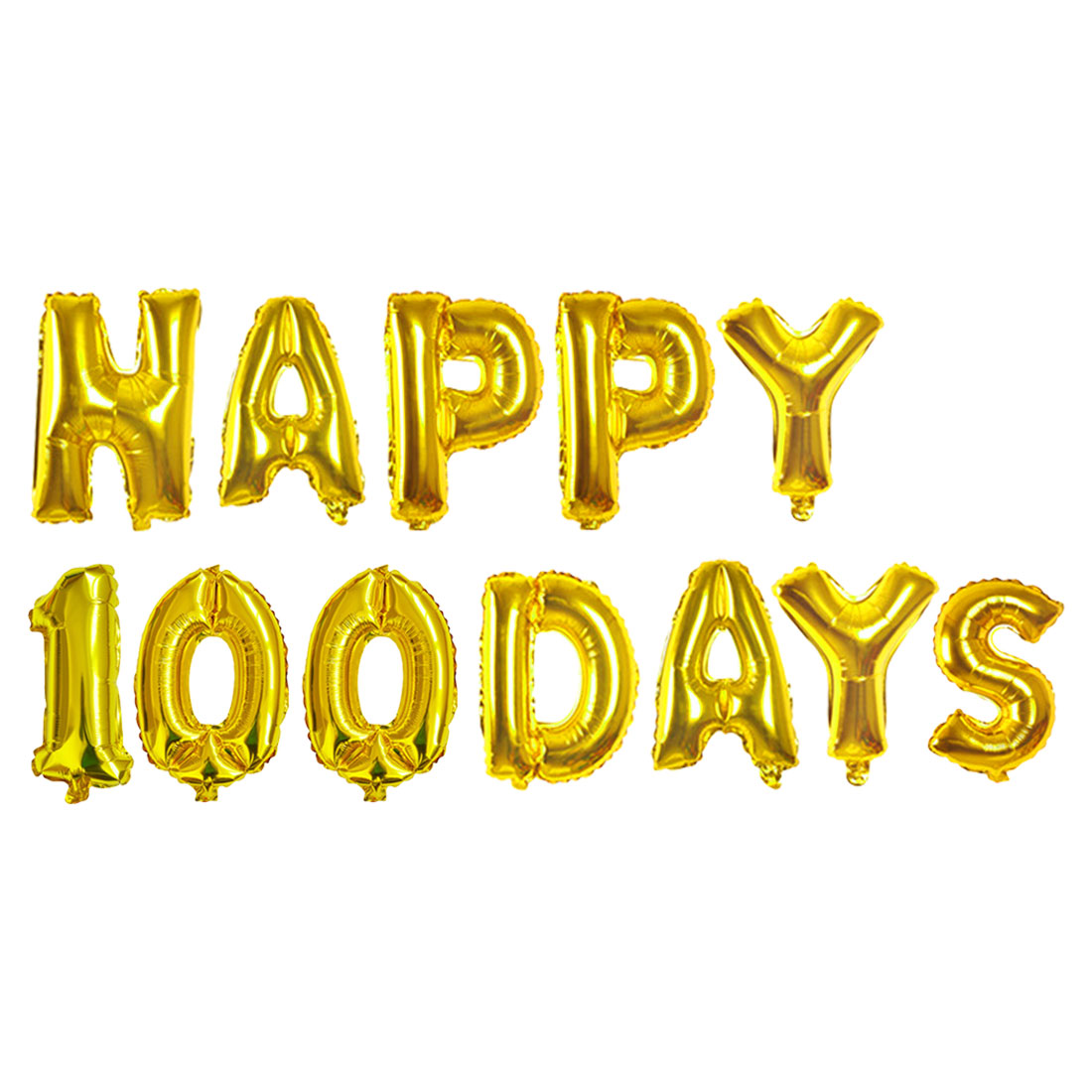 pop 16 inch foil letter balloons party decoration gold silver happy 30days happy 100days balloons anniversary decoration