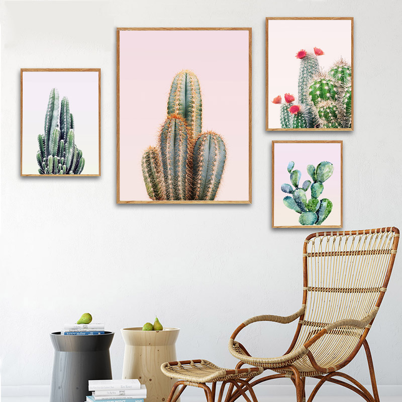Watercolor Plant Cactus Posters and Prints Wall Art Green Style Nordic Canvas Painting Decorative Picture Modern Home Decor