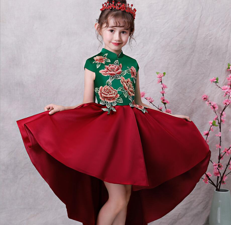 Top Quality Kids Dresses For Girls Wedding Dress  Teenagers embro Party Dress For Christmas Kids Girls Costumes HW2378Top Quality Kids Dresses For Girls Wedding Dress  Teenagers embro Party Dress For Christmas Kids Girls Costumes HW2378