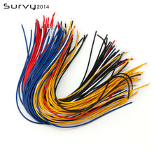 100pcs/Lot Tin-Plated Breadboard Jumper Cable Wire 20cm For Arduino 5 Colors Flexible Two Ends PVC Wire Electronic стоимость