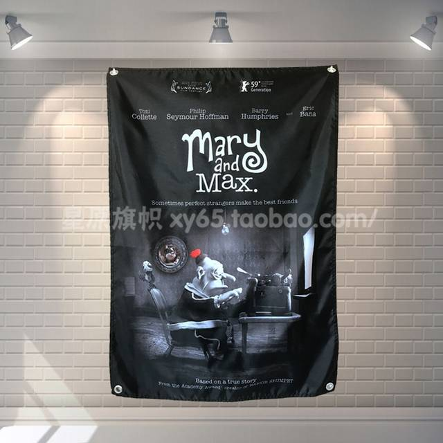Online Shop Mary And Max Movie Poster Banners Bar Cafe Hotel Theme Wall Decoration Hanging Art Waterproof Cloth Polyester Fabric Flags Aliexpress Mobile