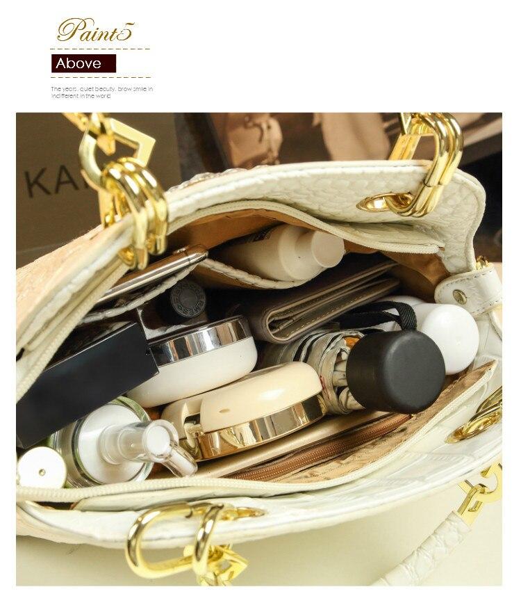 Fahsion diamante de luxo bolsas femininas couro