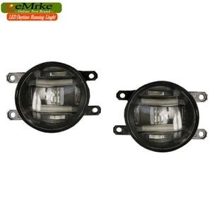 Image 3 - EeMrke Xenon Weiß High Power 2in1 LED DRL Projektor Nebel Lampe Mit Objektiv Für Suzuki Kizashi 2011   up