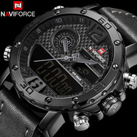 2018 Men Sport Watches NAVIFORCE Top Brand Waterproof LED Digital Watch Mens Luxury Analog Quartz Wristwatch