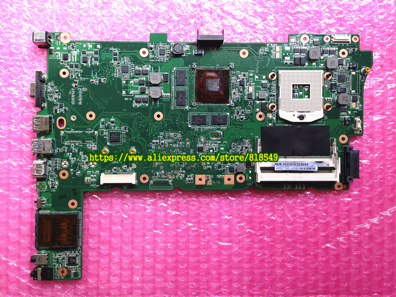 Original N73SV REV2.0 Laptop Motherboard FIT for Asus N73SV Notebook PC Mainboard GT540 1G PGA 989 2DDR3 original new laptop motherboard for asus k52jc rev 2 1 ddr3 n11m ge2 s b1 mainboard