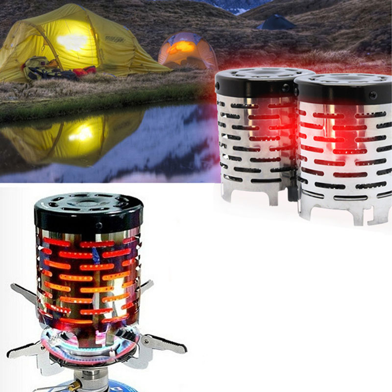 Portable Mini Camping Heater Cap Outdoor Gas Stove Chimeneas Stainless Steel E2S