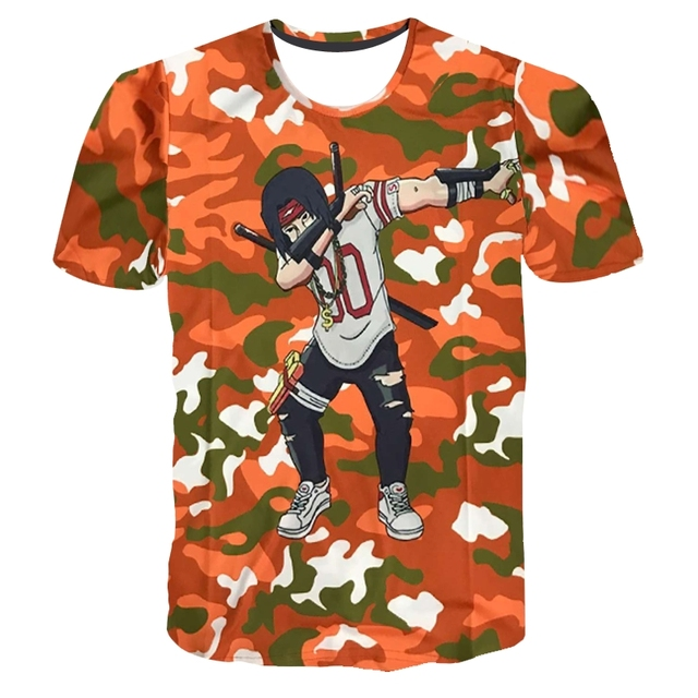 Men Women Summer 3D T shirt Anime One Piece Dead pool Dragon Ball Printing Cartoon Camouflage Dab Tshirt Homme Tees Top Camiseta