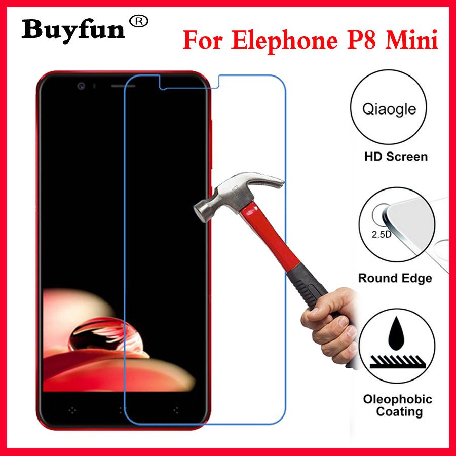 Tempered Glass For Elephone P8 Mini 9H Ultra Clear Protective Film For Elephone P8 P 8 Mini P8Mini Screen Protector On P8 Mini