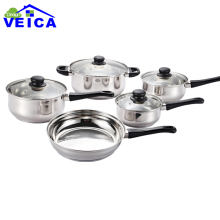 2019 New High-grade Stainless Steel 5 Peices Cooking Pots With Frying Pan Stainless Steel Pot Hot Pot And Pans Cookware Set
