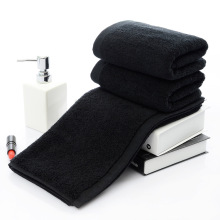 New 2pcs/lot Luxury 100% cotton solid black men face towel hotel toallas home terry brand 35*75cm havlu drop ship
