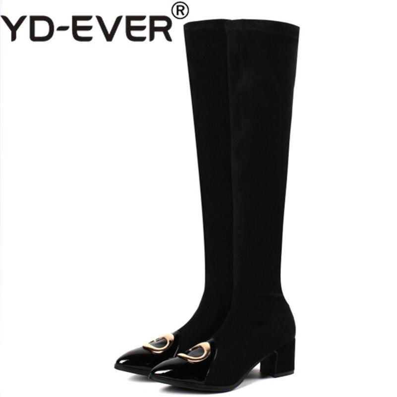Femmes Haute Yd Talons Chevalier Pour Longues Hauts ever Chaussures La Partie Cuissardes Bottes 1 Neige noir Chaud gris Sur 5rqRrw