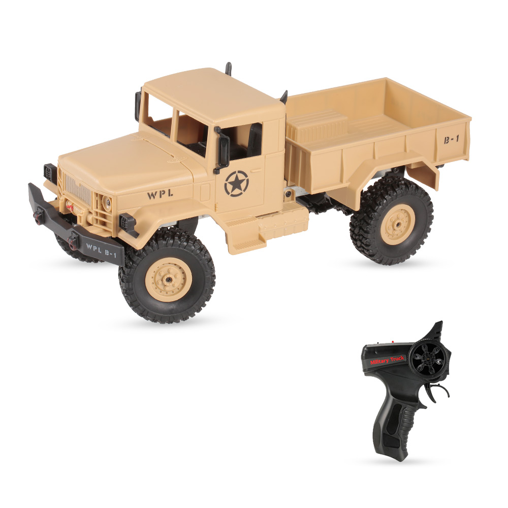 RC Truck Toy for Boy B-14 1/16 2.4GHz 4WD RC Crawler Off-road Military Truck Car with Headlight RTR new arrival wpl wplb 1 1 16 2 4g 4wd rc crawler off road car with light rtr toy gift for boy children