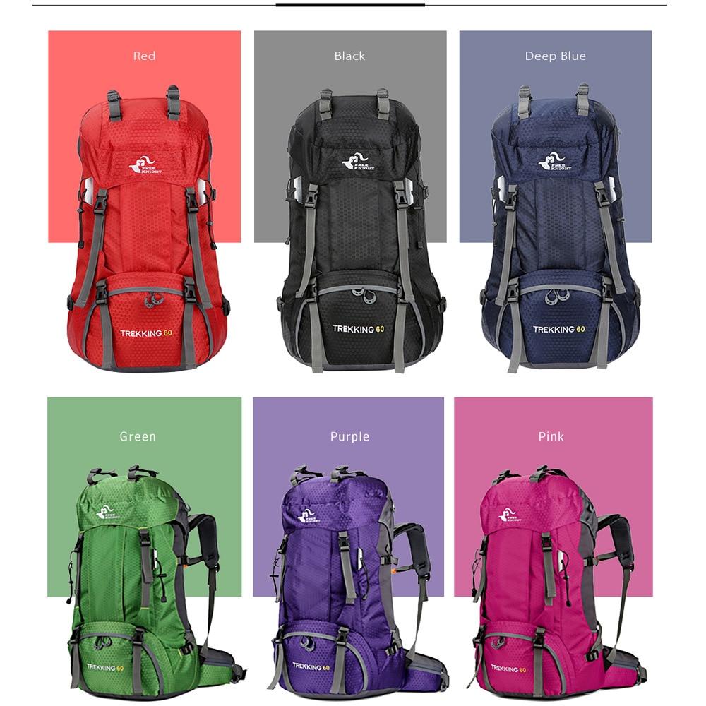 60l Waterproof Climbing Hiking Backpack Rain Cover Bag Camping Outdoor Bike Bag