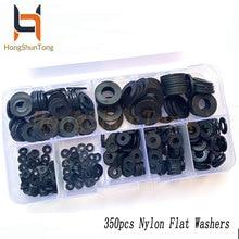 350pcs/box nylon plastic insulation washers M2 M2.5 M3 M4 M5 M6 M8 black spacers seals set gasket ring kit