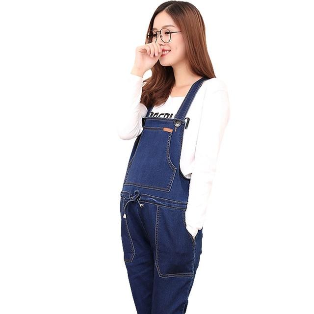 7b59bd77c54d Cotton Maternity Suspender Overalls For Pregnant Women Braced Pants  Jumpsuits Pregnancy Jeans Maternity Uniforms Prop Belly Jean