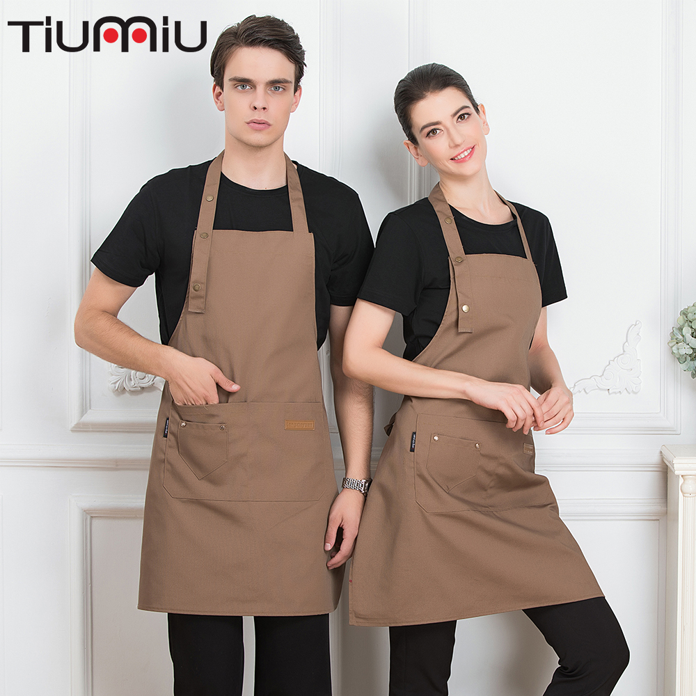 Webbing Apron Restaurant Chef Cozinha Work Wear Men Women Canteen Home Kitchen Cooking Uniforms Waiter Waitress Hanging Neck