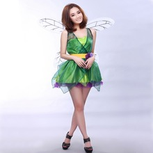 Free shipping Magic Fairy Angel Costume Adult Halloween flower fairy Cosplay plays stage costume with wing and garland free shipping 2port node onpc with 2 dmx outputs can be combined with onpc command wing and faber wing easy remote configuration