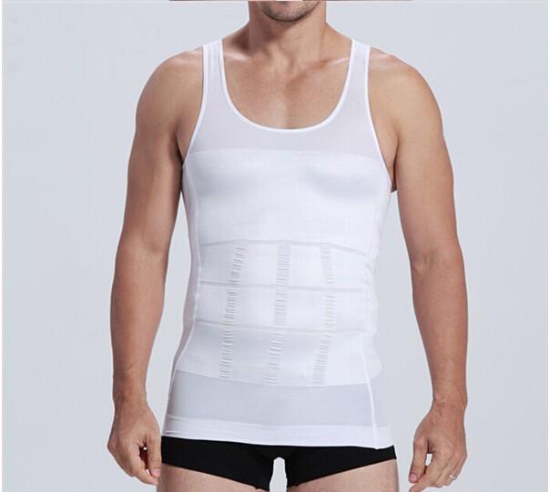 Hot sales Men Shaper Vest Body Slimming Tummy Belly Waist Girdle Shirt Shapewear Underwear 11