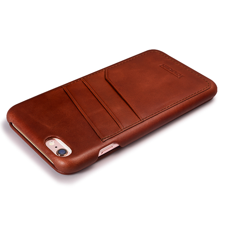 Original ICARER-korthållare äkta läderfodral för iPhone6 6s - Reservdelar och tillbehör för mobiltelefoner - Foto 4