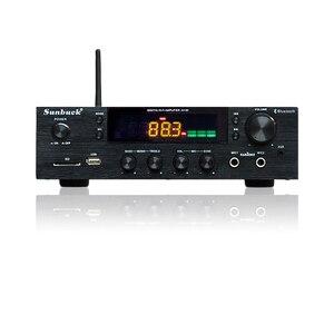Image 1 - SUNBUCK 150W + 150W HiFi Senza Fili di Bluetooth Stereo Digitale Amplificatore di Karaoke Amplificatore Audio Home Theater di Sostegno USB/ carta di DEVIAZIONE STANDARD