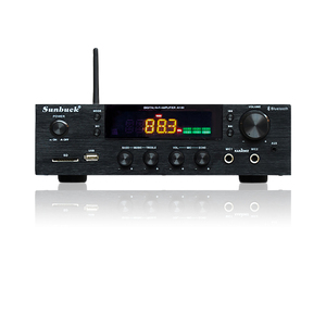 Image 1 - SUNBUCK 150W+150W HiFi Wireless Bluetooth Digital Stereo Amplifier Karaoke Home Theater Audio Amplifier Support USB / SD Card