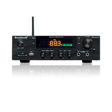 SUNBUCK 150W + 150W HiFi kablosuz bluetooth Dijital Stereo Amplifikatör Karaoke Ev Sineması ses amplifikatörü Desteği USB/SD Kart