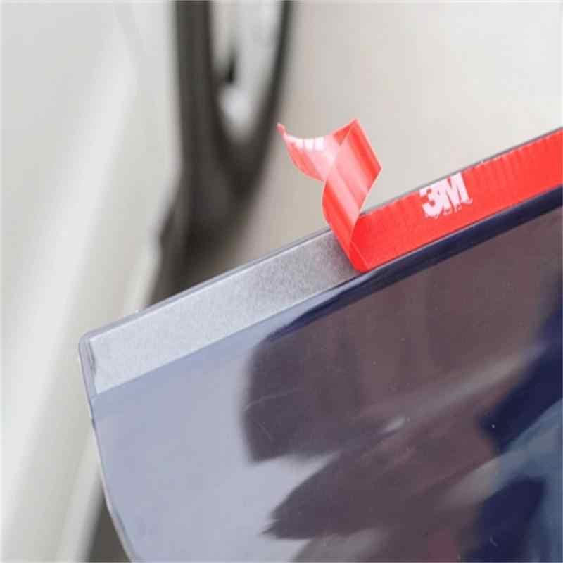 أسود 2 قطعة بولي كلوريد الفينيل سيارة مرآة الرؤية الخلفية ملصقا المطر الحاجب السير الوقائي مرآة للسيارات المطر درع الظل غطاء معدات الحماية **