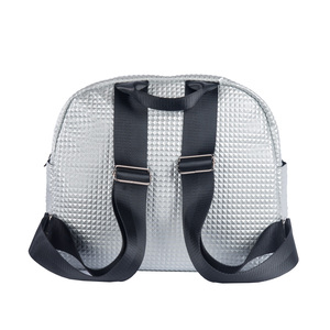 Image 4 - Eleindole Women Multifunctional Carriage Bags 18L Baby Care Bag Materniry Silver Female Fashion Backpacks with Stroller Straps