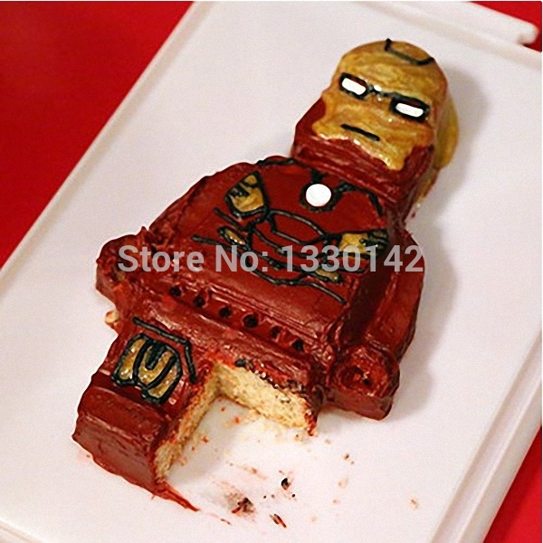 2x Huge Size Lego Bricks & Lego Man Silicone Cake Mold Chocolate ...